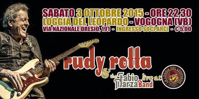 Rudy Rotta e la Fabio Marza Band live a Vogogna (VB)