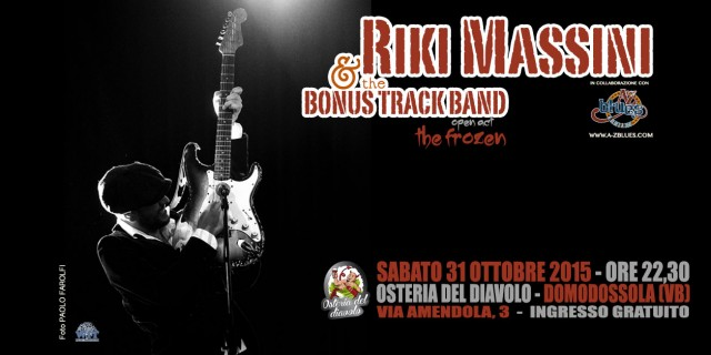 Riki Massini & The Bonus Track Band live a Domodossola