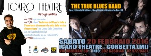 The True Blues Band & Friends live at Icaro Theatre Corbetta, grafica Antonio Boschi A-Z Blues