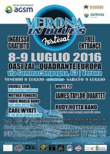 Manifesto Verona In Blues Blues Festival grafica Antonio Boschi