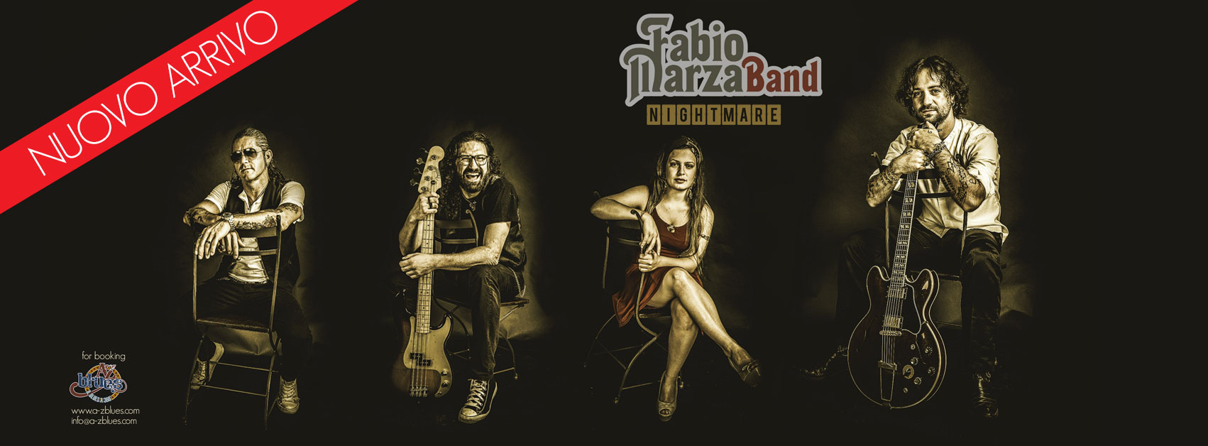 A-Z Blues, Fabio Marza Band, Nightmare, grafica Antonio Boschi, WIT Grafica & Comunicazione