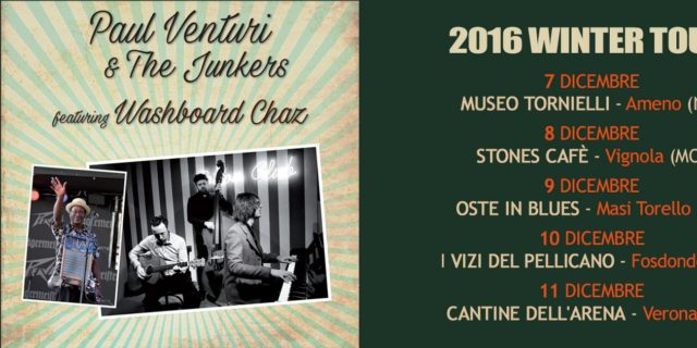 Paul Venturi & The Junkers feat. Washboard Chaz (New Orleans) in Tour