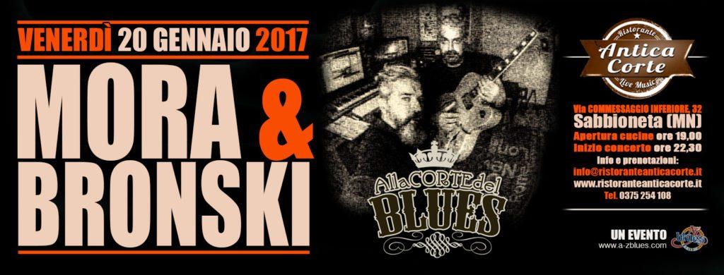 Mora & Beonski alla Corte del Blues, grafica WIT di Antonio Boschi per A-Z Blues