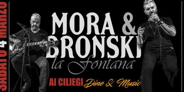 MORA & BRONSKI nella terra dei vini veronesi  con un live alla FONTANA DEI CILIEGI DINE & MUSIC
