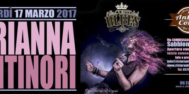 Venerdì 17 Marzo Arianna Antinori colorerà col suo Rock Blues l'Antica Corte di Sabbioneta (MN)
