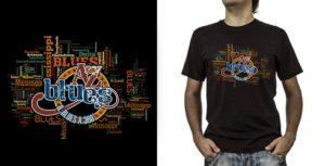 T-shirt._A-Z Blues (grafica Antonio Boschi, WIT Grafica & Comunicazione)