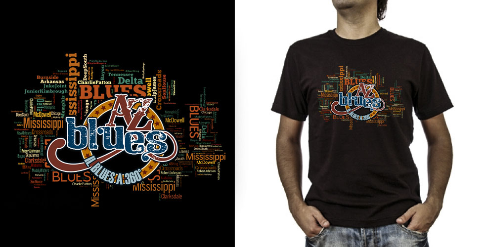 T-shirt._A-Z Blues (grafica Antonio Boschi, WIT Grafica & Comunicazione)
