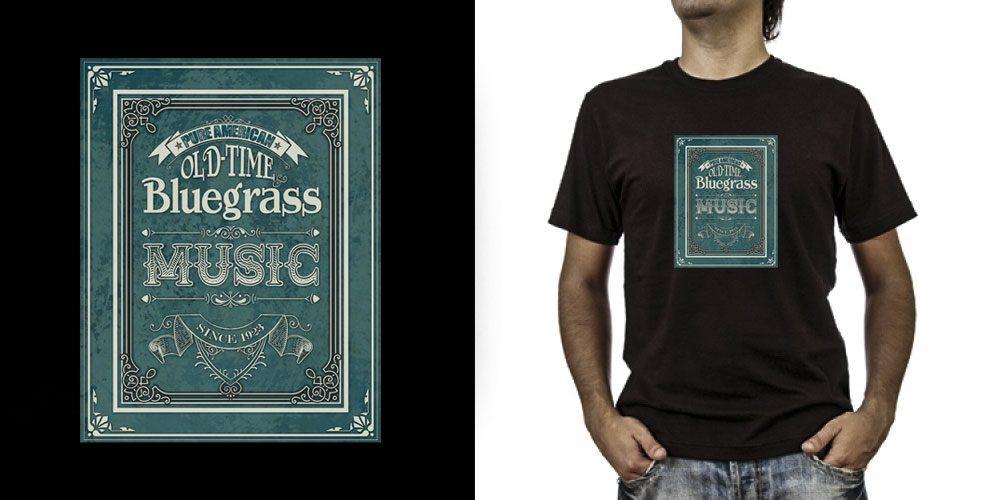 T-shirt._Bluegrass (grafica Antonio Boschi, WIT Grafica & Comunicazione)