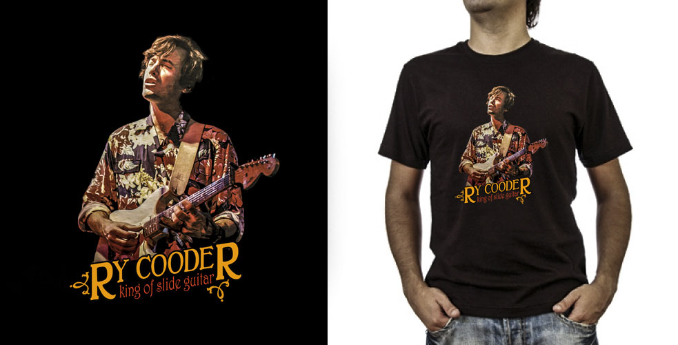 T-shirt._Ry Cooder (grafica Antonio Boschi, WIT Grafica & Comunicazione)