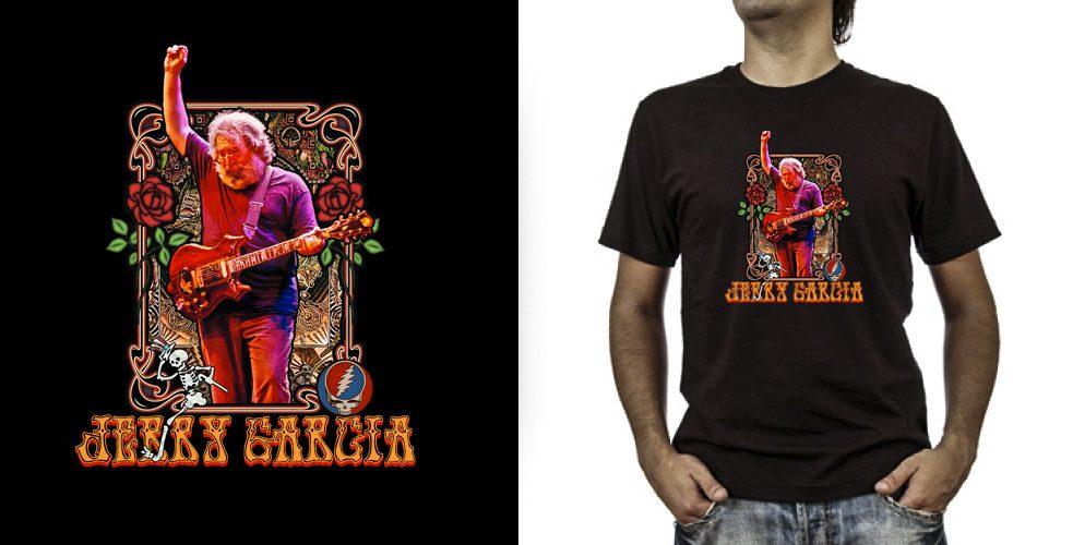 T-shirt._Jerry Garcia (grafica Antonio Boschi, WIT Grafica & Comunicazione)