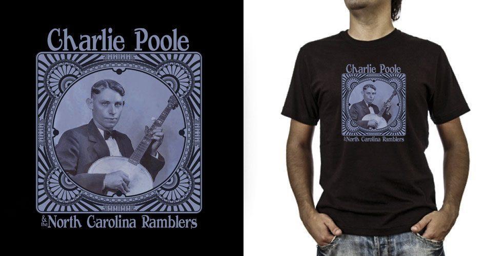 T-shirt._Charlie Poole (grafica Antonio Boschi, WIT Grafica & Comunicazione)
