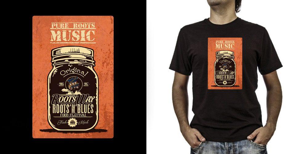 T-shirt._Rootsway (grafica Antonio Boschi, WIT Grafica & Comunicazione)