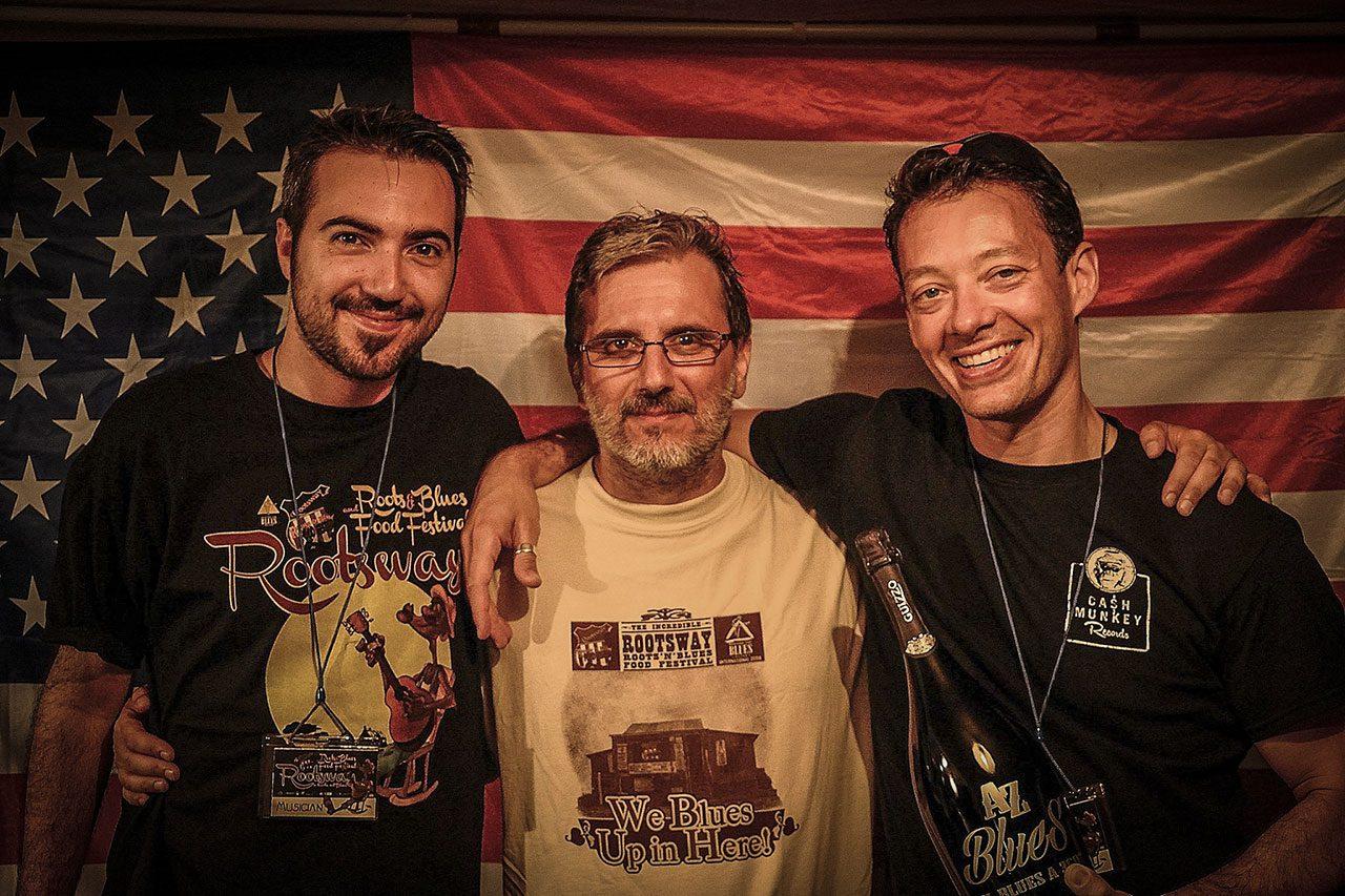 A-Z Blues: Lorenz Zadro, Antonio Boschi, Davide Grandi. Foto Francesca Castiglioni